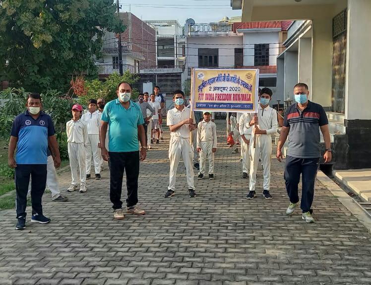 गांधी जयंती की पूर्व संध्या पर निकली पैदल यात्रा