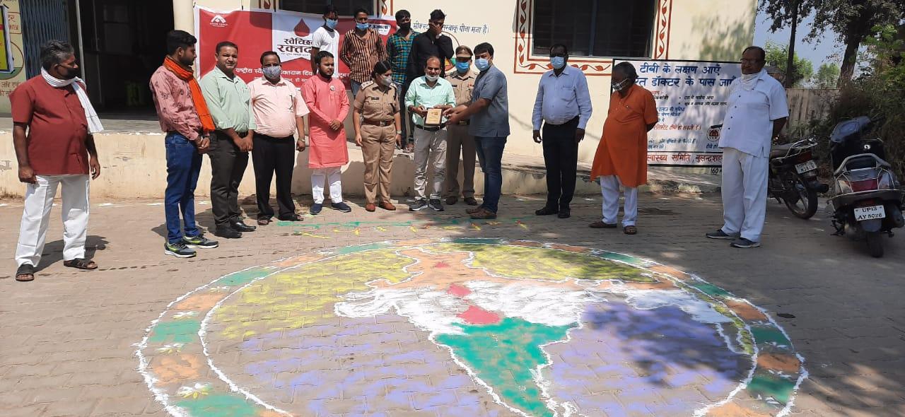 महादानियों ने किया उत्साह के साथ रक्तदान, राष्ट्रीय स्वैच्छिक रक्तदान दिवस पर खानपुर में आयोजित हुआ शिविर