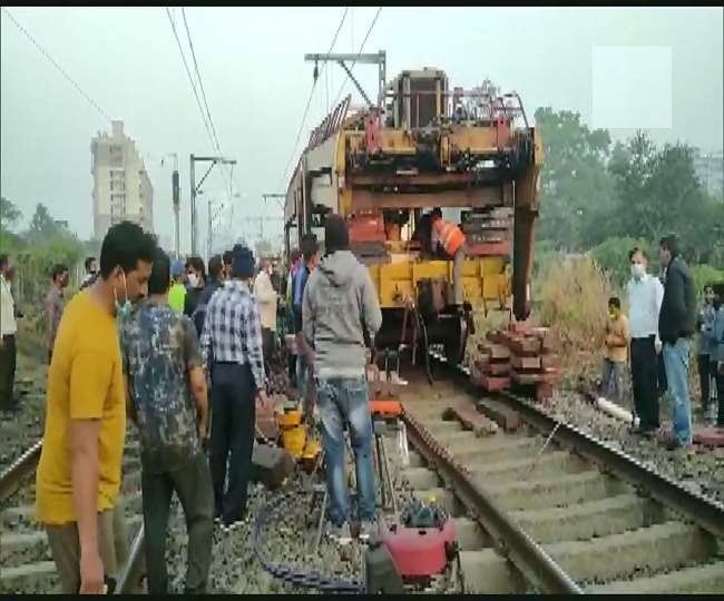बरनाथ-बदलापुर के बीच ट्रैक मशीन के फेल होने से दो घायल; एक की मौत, सेवाएं प्रभावित, ट्रेनें डायवर्ट